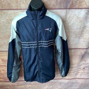 New England patriots windbreaker jacket men's L